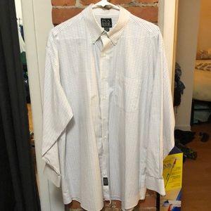 Jos. A Bank 16.5-34 dress shirt lined pattern